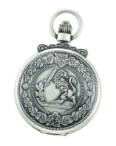 Charles-Hubert, Paris 3866-S Classic Collection Antiqued Finish Double Hunter Case Mechanical Pocket Watch ()
