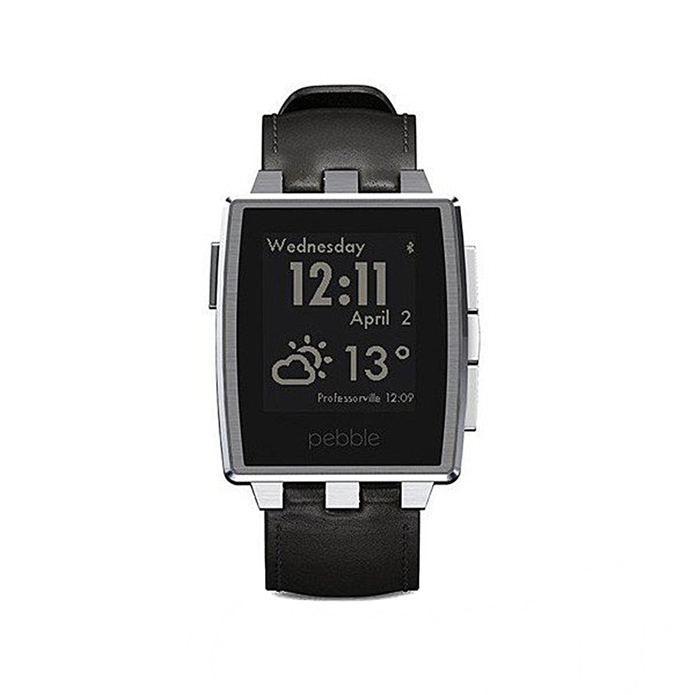 Pebble Steel 22mm - Smartwatch (Bluetooth, ARM Cortex-M3, pantalla 1.26