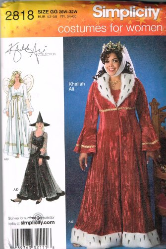 [Simplicity Sewing Pattern 2818 for Women's Costume in Sizes 26W-32W] (Size 28 Costumes)