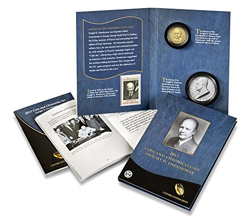 - 2015 P Presidential Coin & Chronicles Set - Dwight D. Eisenhower (AX2) Reverse Proof