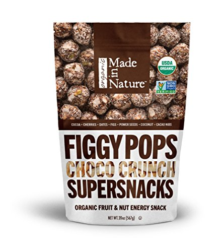 Made in Nature Choco Crunch Figgy Pops, 20 oz - Organic Unbaked Energy Balls