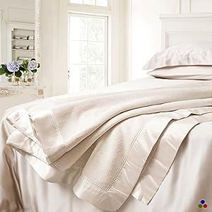 ElleSilk Pure Silk Blanket, the Highest Grade Long Fiber Mulberry Silk, Luxe Warmth, Light Weight from ElleSilk