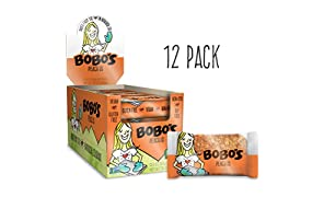 Bobo's Oat Bar (Peach, 12 Pack of 3 oz Bars) Gluten Free Whole Grain Rolled Oat Bar - Great Tasting Vegan On-The-Go Snack, Made in the USA