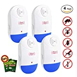 Pest Control Ultrasonic - Electronic Plug in Pest Repeller Indoor - Rodents & Insects Repellent - Repels Bug, Cockroach, Mosquito, Ant, Spider, Mouse, Rat Environment-friendly (Blue)