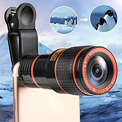 LtrottedJ HD 12x Optical Zoom Camera Telescope Lens, with Clip for iPhone/Phone Universal