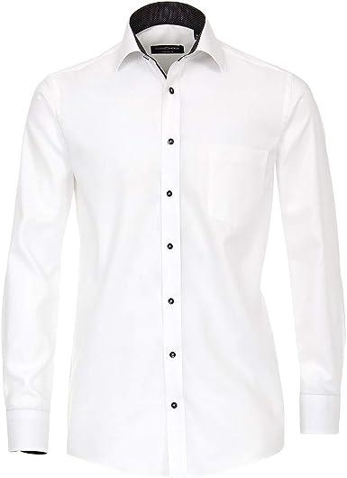 CASA MODA Camisa Manga Larga estructurada Blanca: Amazon.es: Ropa y accesorios