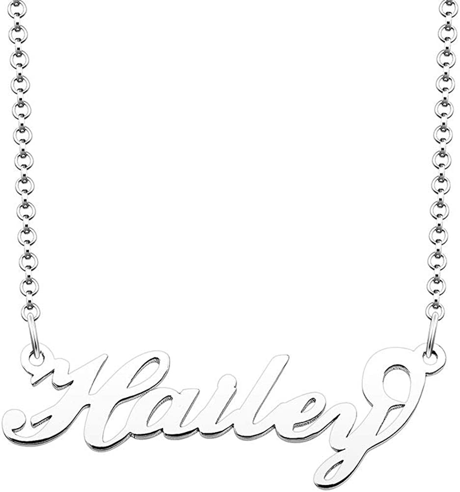 Jesse Ortega Name Necklace Sterling Silver Personalized Semi-Customized Nameplate Necklace