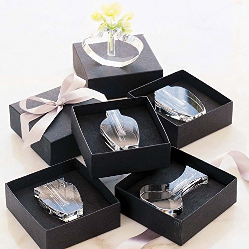 Design Ideas Aphrodite Vases, Clear Optic Glass Flower Holder Set of Six