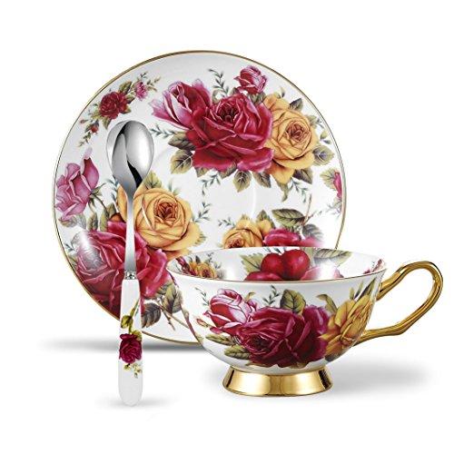 Rose Coffee Teacup - 5