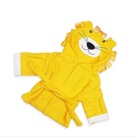 Albornoz Para Niños Diseño del león Recién nacido Infantil Con ...