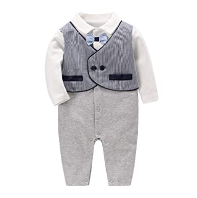 Baby Boy Shirt Ropa Tuxedo Newborn Romper Prendas de Abrigo ...