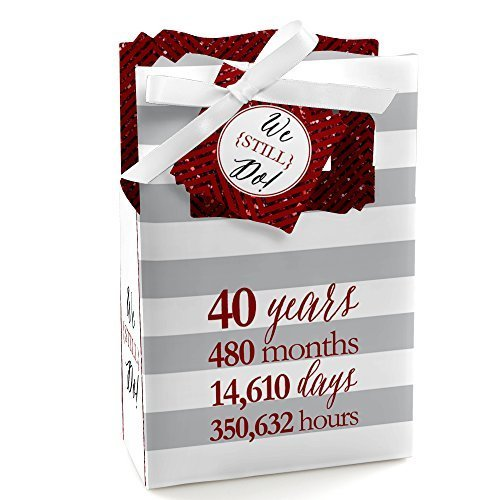 40th Anniversary Party Favors - We Still Do - 40th Wedding Anniversary Party Favor Boxes - Set of 12