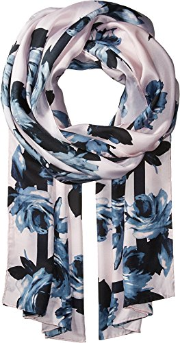 Kate Spade New York Women's Night Rose Silk Oblong Scarf Rose Dew One Size by Kate Spade New York