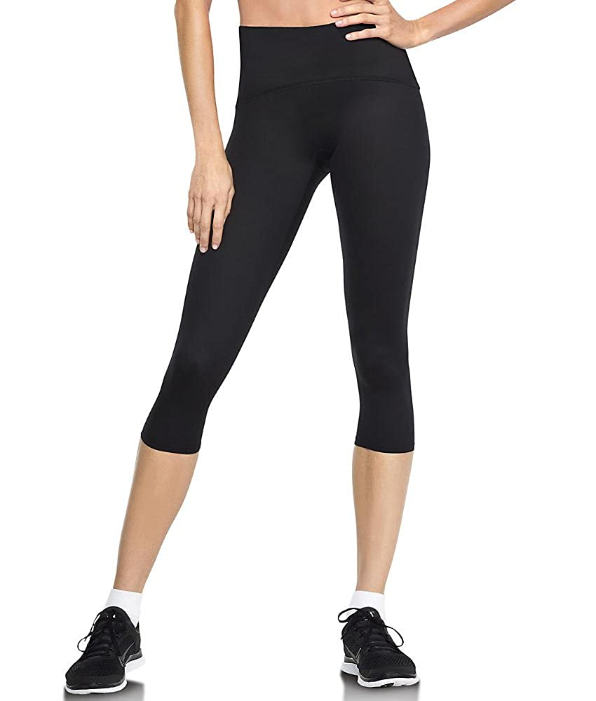 Spanx Women's Active Compression Cropped Leggings, Black, XL
