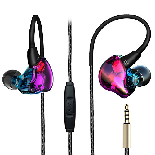 Over Ear Earbuds, Running Sport In Ear Buds Bass Noise Isola
