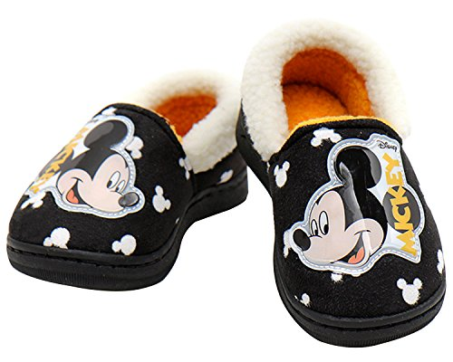 Disney Mickey Mouse Boy's Girl's Warm Fur Comfort Indoor Slipper Shoes (Parallel Import/Generic Product) (13 M US Little - How Long Usps International