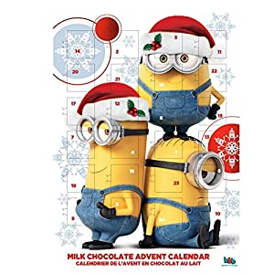 minions christmas milk chocolate advent calendar amazon. Black Bedroom Furniture Sets. Home Design Ideas