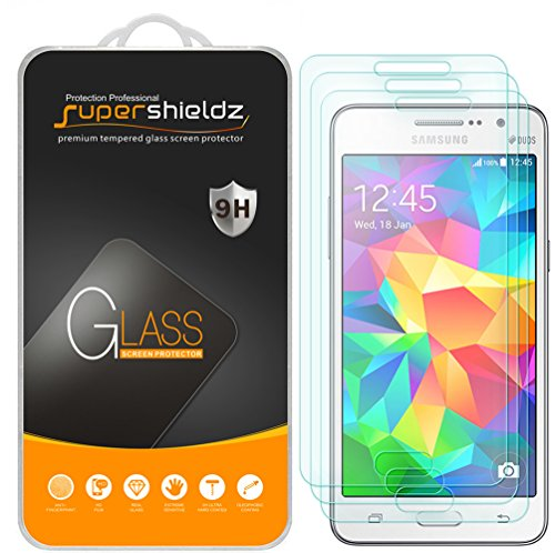 [3-Pack] Supershieldz for Samsung Galaxy Grand Prime Tempered Glass Screen Protector, Anti-Scratch, Anti-Fingerprint, Bubble Free, Lifetime Replacement Warranty