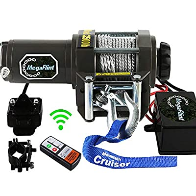 ATV Winch 12V Electric Winch UTV Utility 3500LBS Winch 1591KGS Recovery Boat Trailer Winch Truck with Wireless Remote & Corded Control Off Road Kit 4WD 4x4