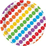 Rainbow Dessert Plates, 8ct