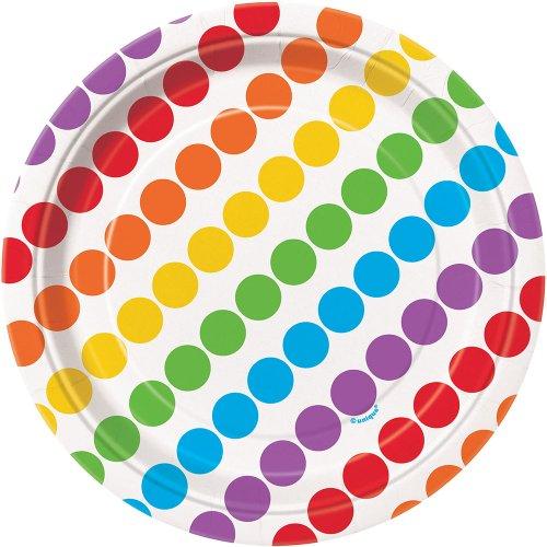 Rainbow Dessert Plates,