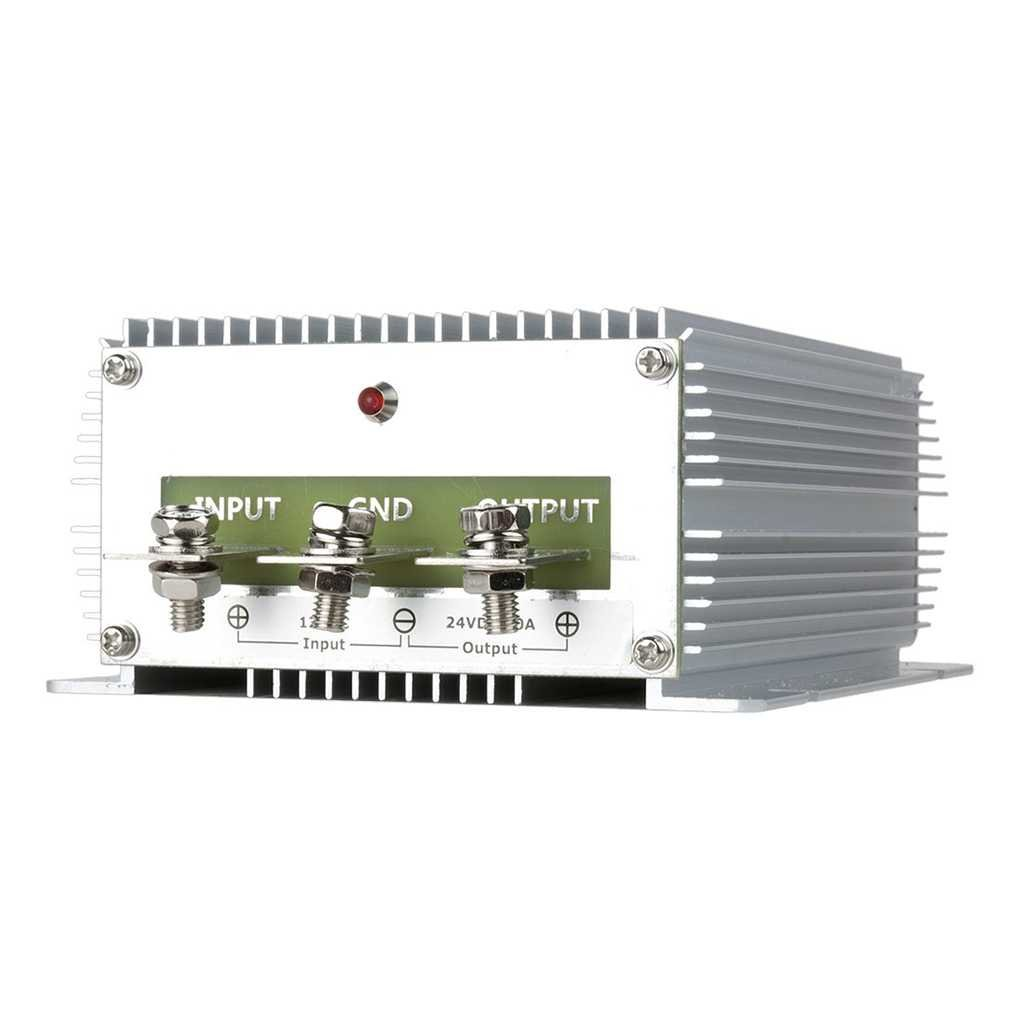 Elenxs Heavy-duty Voltage Converter Regulator DC 12V Step-up to DC 24V 25A Car Truck Power Boost Transformer