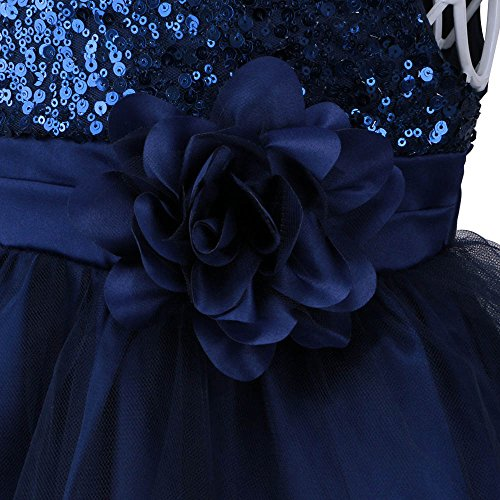Flower 6 Dresses Newborn Baby TFJH Wedding 36M Pageant Navy Girl Party Lovely wqRzEBR8