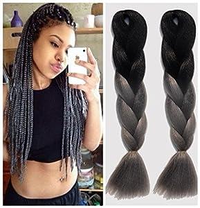Kanekalon Fiber Ombre Xpression Braiding Hair For Box