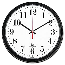 THE CHICAGO LIGHTHOUSE Wall Contract Clock with White Dial, 13-3/4-Inch, Black