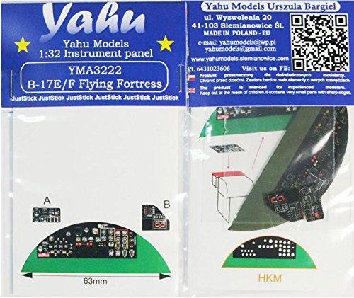 Yahu Model 1:32 B-17 E/F Colored Instrument Panel for HKM Kit #YMA3222