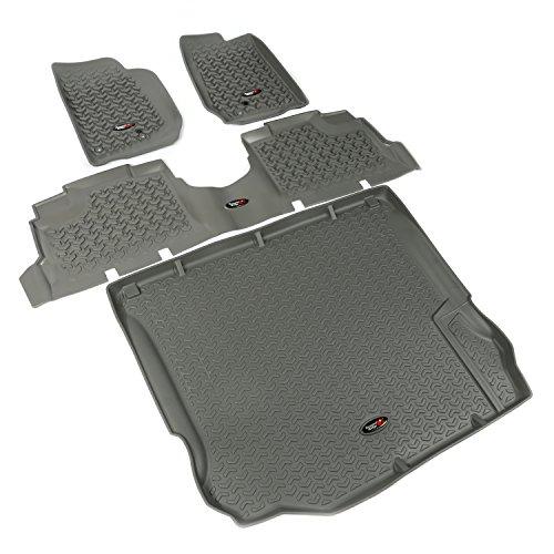 Rugged Ridge 14988.04, All Terrain Floor Liner Kit, Front/Rear/Cargo, Gray, 2011-2018 Jeep Wrangler Unlimited JK 4 Dr