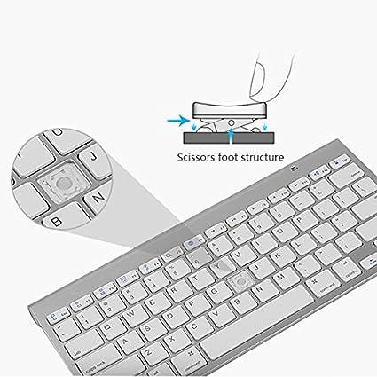 REFURBISHHOUSE Teclas de Silencio portatiles Teclados Teclado ...