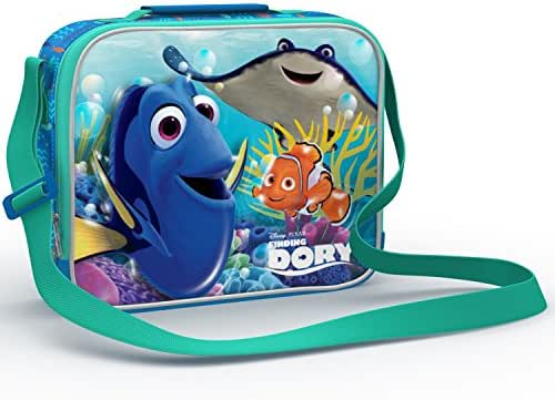 Finding Dory Special Limited Edition School Kids Lunch Box. Characters on Both Sides! Boys and Girls Favorite Dory-Nemo Lunch Tote Bag with Strap. Destiny, Bailey, Hank, Marlin Back to School