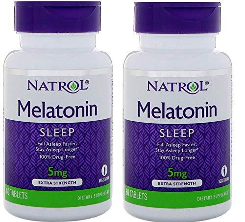 Natrol Melatonin Time Release 5mg Tablets 100 ea (Packs of 2)