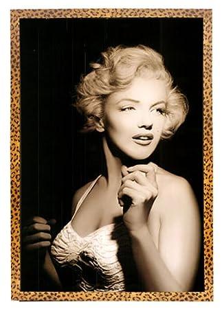 Amazon.com: Marilyn Monroe Framed Poster on Leopard Print Frame 24 ...