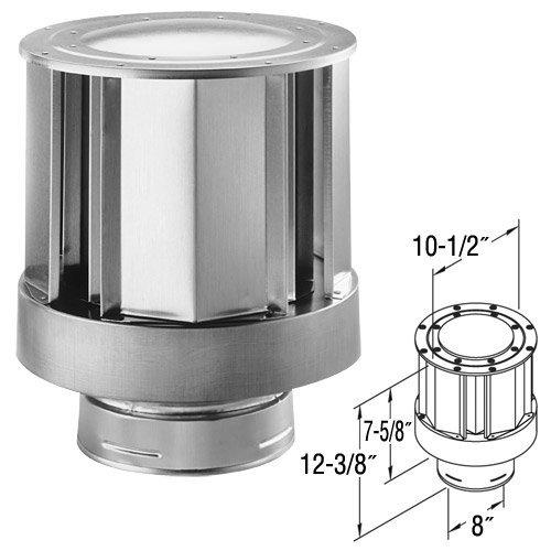 DuraVent 58DVA-VCH 5'' x 8'' DirectVent Pro Direct Vent Pipe - Galvanized High-Win, Galvanized