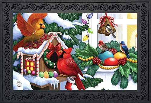 Briarwood Lane Home for The Holidays Christmas Doormat Birdhouse Indoor Outdoor 18 x 30