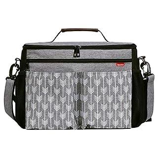 Baby Stroller Organizer Diaper Bag Tote Bag with Hooks/Shoulder Strip, Large Space Stroller Accessories Bag
