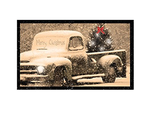 Ohio Wholesale Radiance Lighted Merry Christmas Pick up Truck Canvas Wall Art, from our Christmas Collection ()