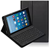 Fire HD 10 Keyboard Case(7th Generation,2017) iThrough Wireless Bluetooth Keyboard for All-New Fire HD 10, Magnetically Detachable Bluetooth V3.0 keyboard with Slim Light Stand Cover Shell (Black)