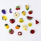 Pack of 19 Fruit Fridge Magnet Home Decoration Banana Orange...