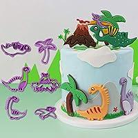 Lsnisni Jurassic Dinosaur Cookie Mold, 3D Baking mold, Fondant Cake Mold Cookie Mold set for Children's Birthday…