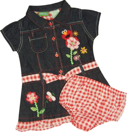 Sesame Street Elmo Infant Denim Dress