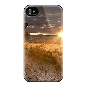 NWfxRMb2847oDWBO Case Cover Protector For Iphone 4/4s Sunset After Clouds Case