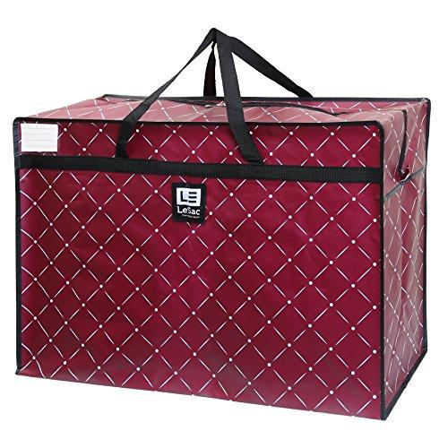 LeSac Extra Large Heavy Duty Zippered Organizer Storage Tote Bag. Holiday Decor Storage Bag, College Carry Bag, Large Trunk Organizer, Oversize Storage Bag, Camping Laundry Bag