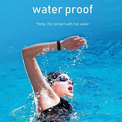 NVFED Smart Watch Frauen Männer Wrist Pedometer for IOS Android Herzfrequenz-Tracker Blutdruck Sport Smartwatch Weiblich Männlich Uhr (Color : Light Purple) Red