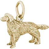 Rembrandt Charms Golden Retriever Charm, 14K Yellow Gold