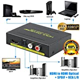 LinkStyle 1080P HDMI to HDMI Optical Splitter+SPDIF+RCA L/R Extractor Converter For HDTV XBOXONE PS4