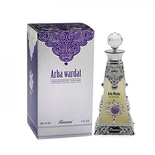 (Rasasi Arba Wardat for Men and Women (Unisex) CPO - Concentrated Perfume Oil (Attar) 30 ML (1.6)