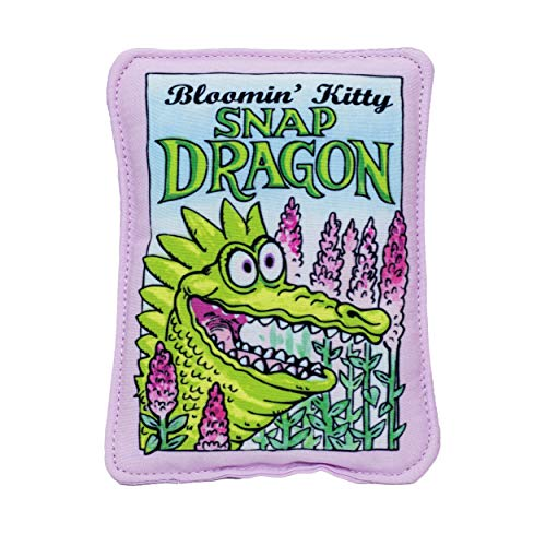 FUZZU Bloomin' Kitty Seed Packets Cat Toy with U.S. Grown Certified Organic Catnip - Snap Dragon